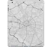 Manchester, England Map. (Black on white) iPad Case/Skin