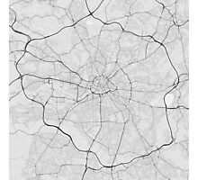 Manchester, England Map. (Black on white) Photographic Print