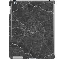 Manchester, England Map. (White on black) iPad Case/Skin