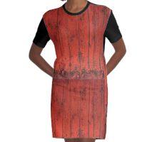 couleur framboise Graphic T-Shirt Dress