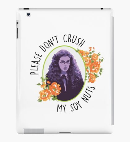 Please Don't Crush My Soy Nuts iPad Case/Skin