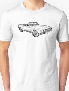 1967 Convertible Camaro Car Illustration T-Shirt