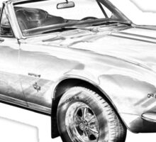 1967 Convertible Camaro Car Illustration Sticker