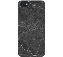 Manchester, England Map. (White on black) iPhone Case/Skin