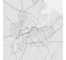 Middlesbrough, England Map. (Black on white) Photographic Print