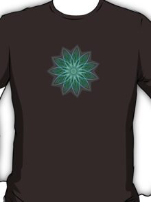 Fractal Flower - Green T-Shirt
