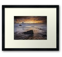 Cornwall - Trebarwith Sunset Framed Print