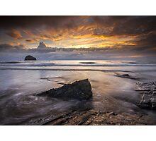Cornwall - Trebarwith Sunset Photographic Print