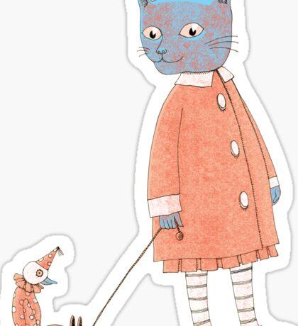 Cat Child Takes a Walk Sticker