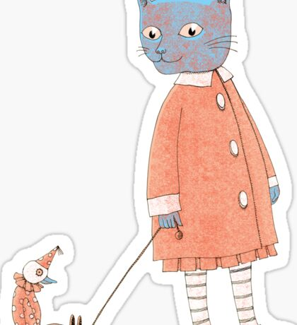 Cat Child Takes a Walk Sticker