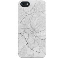Nottingham, England Map. (Black on white) iPhone Case/Skin