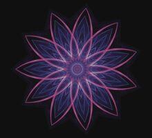 Fractal Flower - Purple One Piece - Short Sleeve