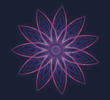Fractal Flower - Purple Kids Tee