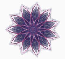 Fractal Flower - Purple Kids Clothes
