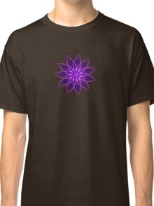 Fractal Flower - Purple Classic T-Shirt