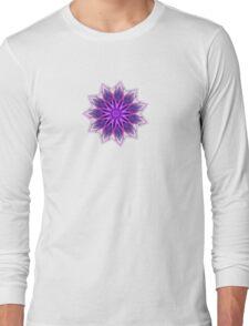 Fractal Flower - Purple Long Sleeve T-Shirt
