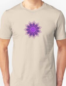 Fractal Flower - Purple T-Shirt