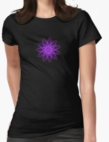 Fractal Flower - Purple Womens Fitted T-Shirt