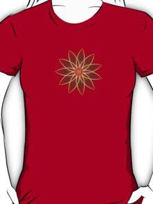 Fractal Flower - Red  T-Shirt