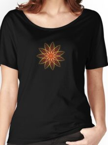 Fractal Flower - Red  Women's Relaxed Fit T-Shirt