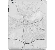 Reading, England Map. (Black on white) iPad Case/Skin