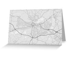 Reading, England Map. (Black on white) Greeting Card