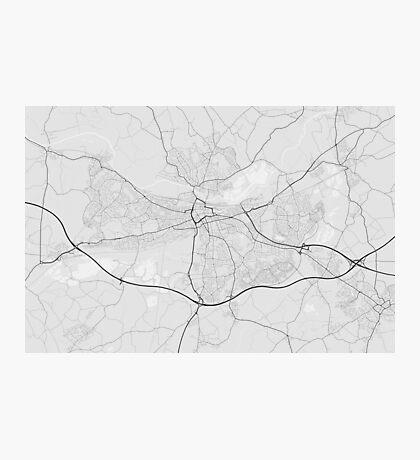 Reading, England Map. (Black on white) Photographic Print