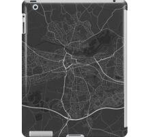 Reading, England Map. (White on black) iPad Case/Skin