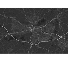 Reading, England Map. (White on black) Photographic Print