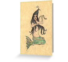 Sitting Inkmaid Greeting Card