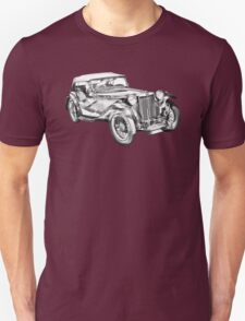 Mg Tc Antique Car Illustration Unisex T-Shirt