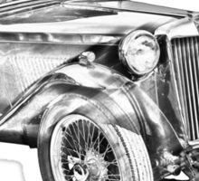 Mg Tc Antique Car Illustration Sticker