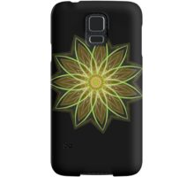 Fractal Flower-Yellow / Earthtones -geometric art Samsung Galaxy Case/Skin