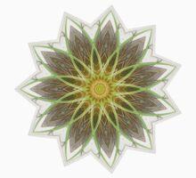 Fractal Flower-Yellow / Earthtones -geometric art Kids Clothes