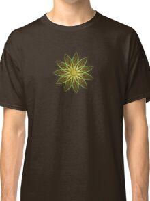 Fractal Flower-Yellow / Earthtones -geometric art Classic T-Shirt