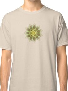 Fractal Flower-Yellow / Earthtones -geometric art Classic T-Shirt