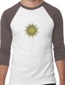 Fractal Flower-Yellow / Earthtones -geometric art Men's Baseball ¾ T-Shirt