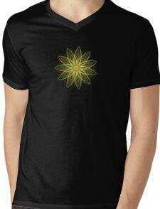 Fractal Flower-Yellow / Earthtones -geometric art Mens V-Neck T-Shirt