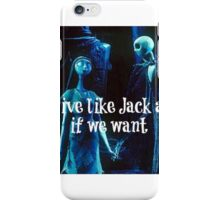 Blink-182 We Can Live Like Jack and Sally iPhone Case/Skin