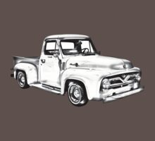 1955 F100 Ford Pickup Truck Illustration Kids Clothes