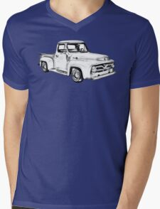 1955 F100 Ford Pickup Truck Illustration Mens V-Neck T-Shirt