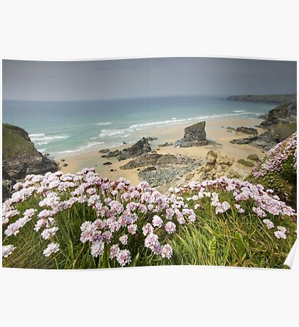Cornwall - Bedruthan Steps Poster