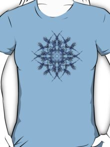 Barbed Blue - Fractal Art design T-Shirt