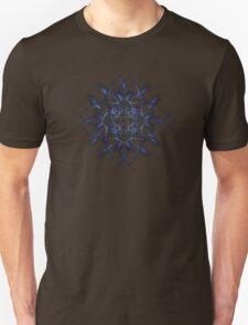 Barbed Blue - Fractal Art design Unisex T-Shirt