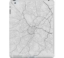 Nottingham, England Map. (Black on white) iPad Case/Skin