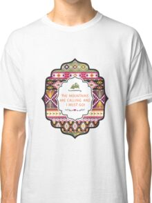 Ethnic print vector pattern background Classic T-Shirt