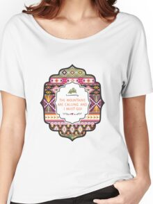 Ethnic print vector pattern background Women's Relaxed Fit T-Shirt