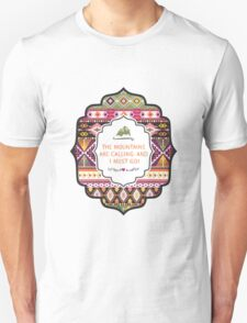 Ethnic print vector pattern background Unisex T-Shirt