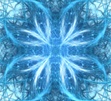 Tribal Ice - Fractal Art Design Sticker
