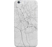 Stoke, England Map. (Black on white) iPhone Case/Skin